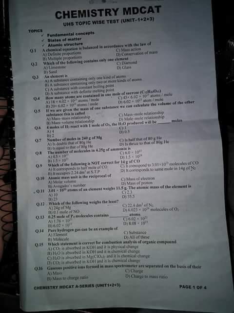FSC Part 2 chemistry important questions - Edupakistan
