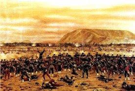 Dibujo de la Batalla de Tarapacá a color