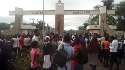 Why LAUTECH students prevented JAMB Candidates from writing exams (Photos)