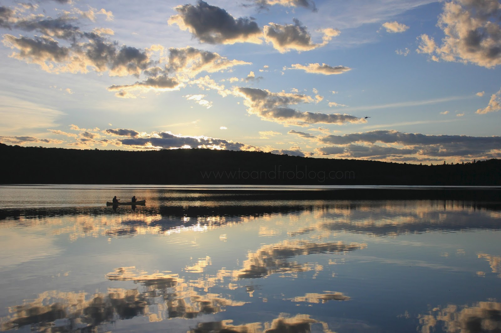 Algonquin Provincial Park Canisbay Lake sunset canoe