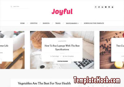 joyful blogger template