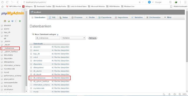 Cara membuat database dengan XAMPP
