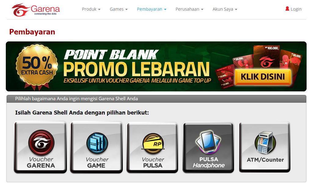 Cara Beli dan Isi Cash PB Garena Indonesia dengan Pulsa HP
