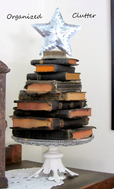 Stacked Bible Christmas Tree www.organizedclutterqueen.blogspot.com
