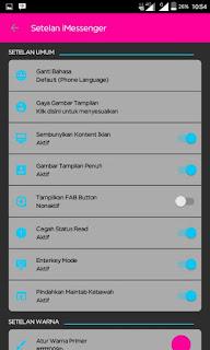 BBM MOD iMESSENGER V7 DARK THEME BASE OFFICIAL V3.0.1.25 Apk Update Terbaru 2016 Gratis