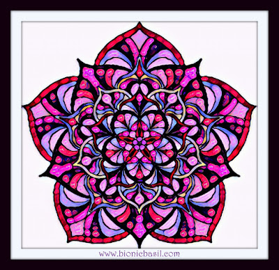 Colouring With Cats  Mandala #87 ©BionicBasil®  Coloured by Cathrine Garnell 5-5-19
