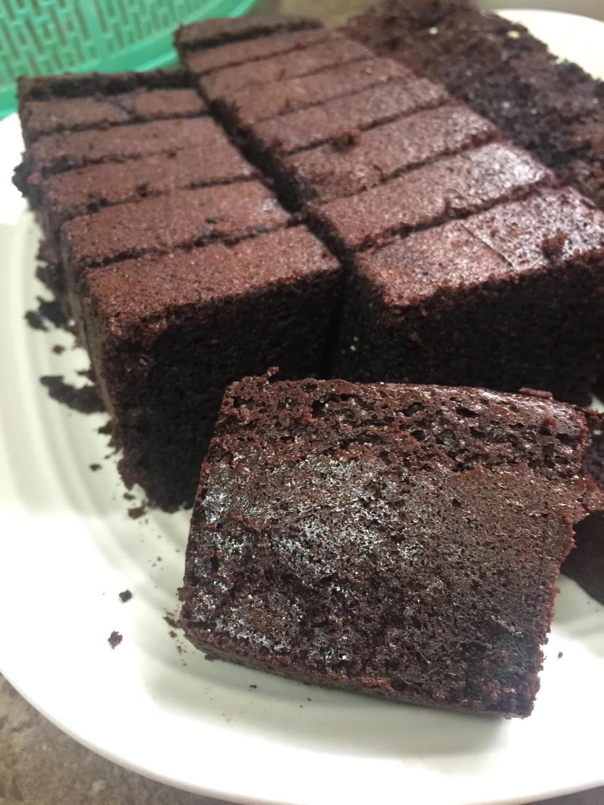 resepi kek coklat, kek coklat moist sedap,  resepi mudah disediakan, kek coklat