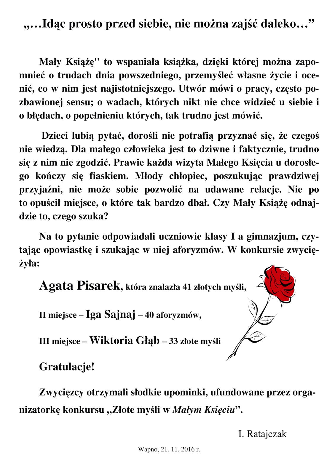 Szkoła Podstawowa Im Adama Mickiewicza W Wapnie Złote