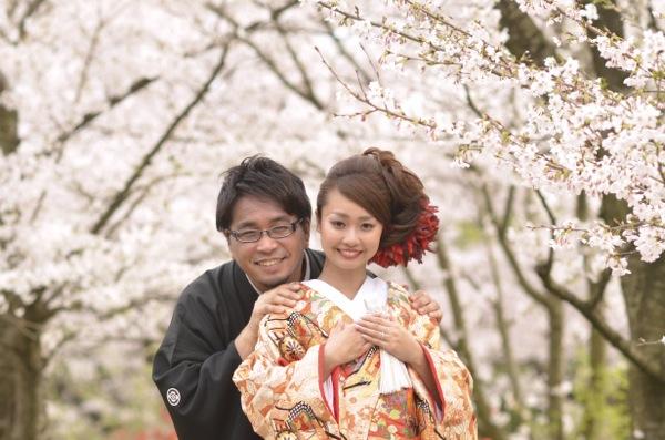 桜の京都で前撮りロケーション