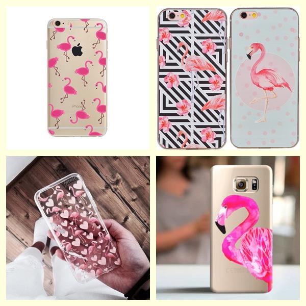 Capas de celular flamingos