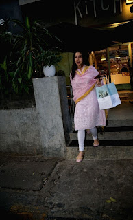 Actress Sara Ali Khan seen at a restaurant in Mumbai
