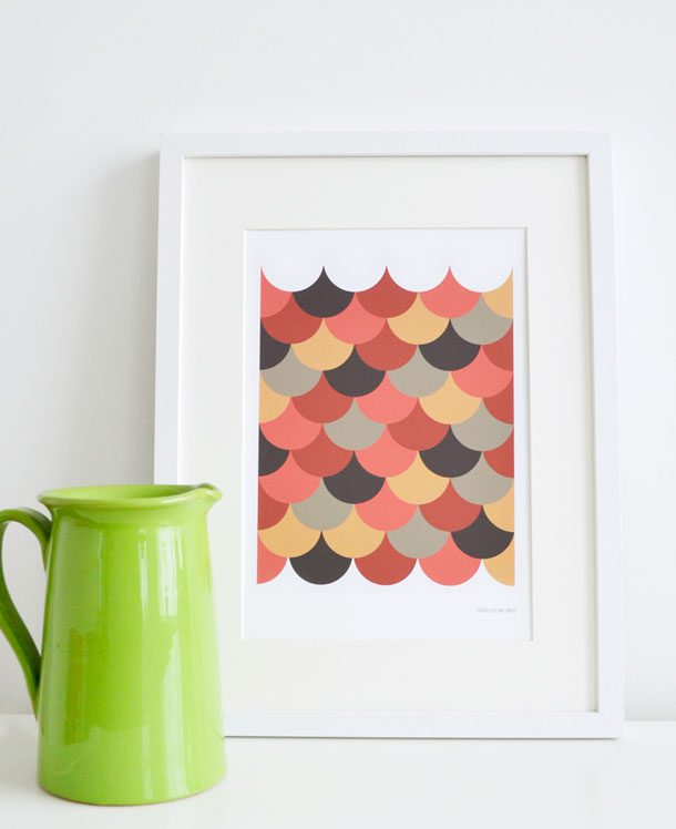 Scallop Art Print by little miss gee