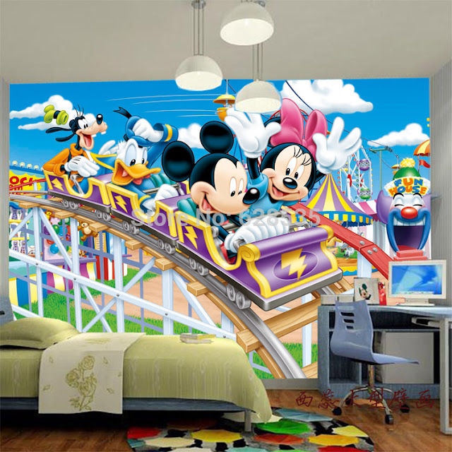 Mickey Mouse Wall Mural Kids Room Disney Wallpapers