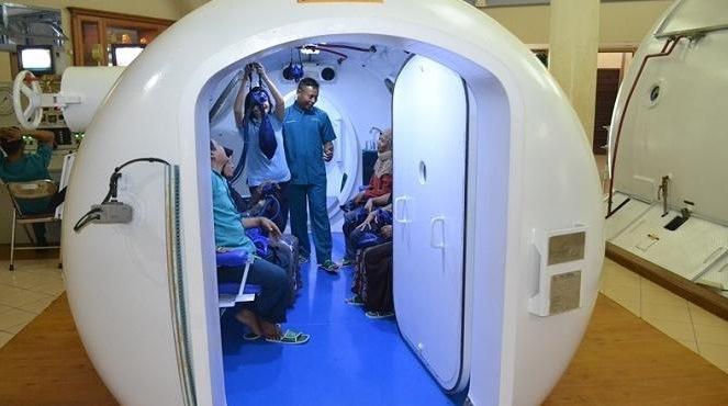 Terapi oksigen dengan hiperbarik oksigen