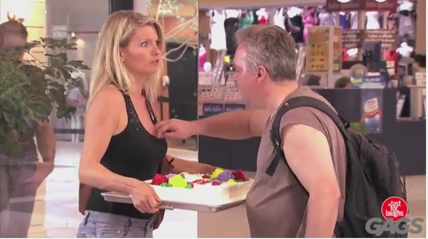 A Most Funny Clip Everfishing In Her Cleavage