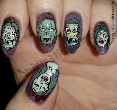 Stamping-Plate-Born-Pretty-Store-126-BP-126-BP126-Skull-Scary-Face-Zombies-Halloween