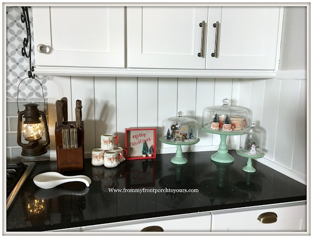 Farmhouse Christmas Kitchen-Cake Stands-Vinatge-From My Front Porch To Yours