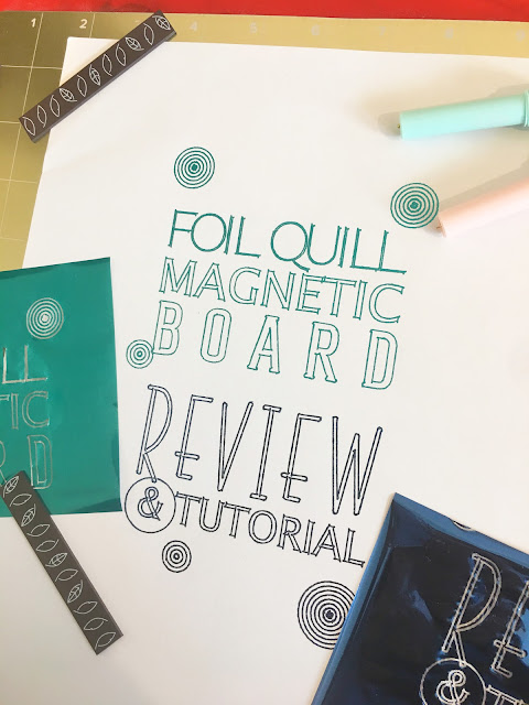 foil quil, foil quill silhouette, silhouette 101, silhouette america blog, foil quill magnetic board