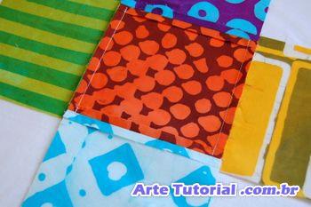 costurando cubo para crianças