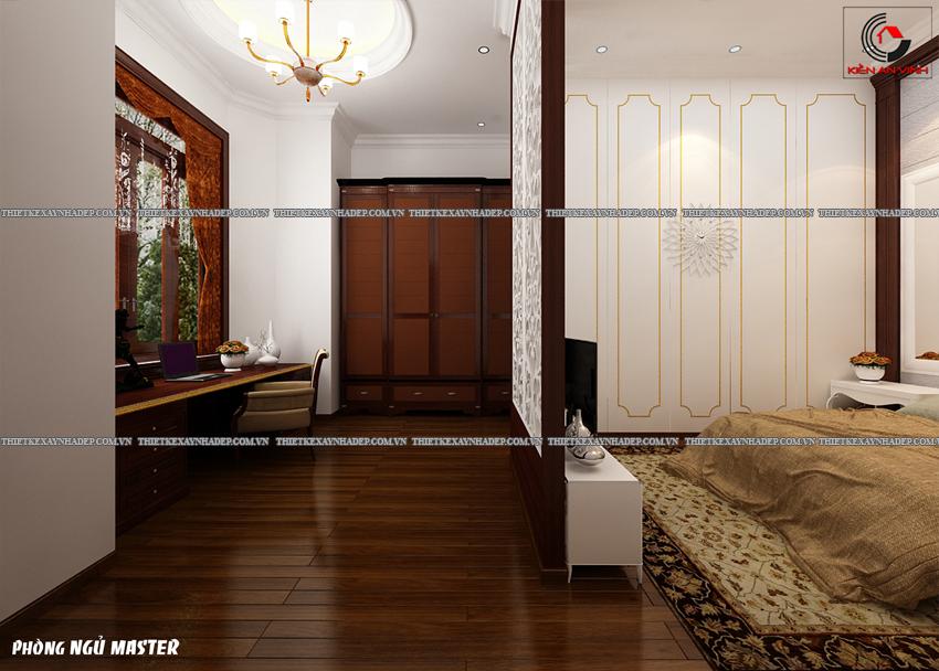 Mẫu thiết kế biệt thự nhà vườn 1 tầng đẹp hiện đại dt 150m2 Phong-ngu-master-5