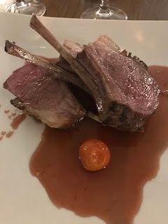 lamb chops cut with juice and red tomato stobo