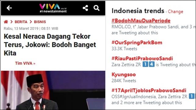 """Bodoh Banget Kita"" Ala Jokowi Dilawan #BodohMauDuaPeriode"