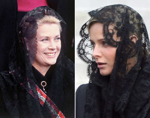 Princess Grace Kelly and Princess Charlene style fashions wore dress, weddings dress, diamond tiara