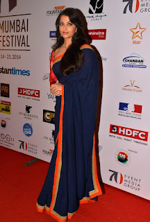 Aishwarya Rai In Blue Saree 2