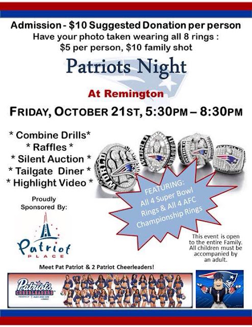 Patriots Night at Remington Middle School - Oct 21