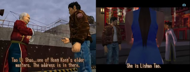 Tao Li Shao in Shenmue I transforms into Lishao Tao in Shenmue II.