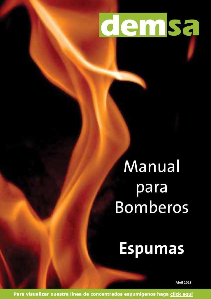 Manual para bomberos espumas DEMSA