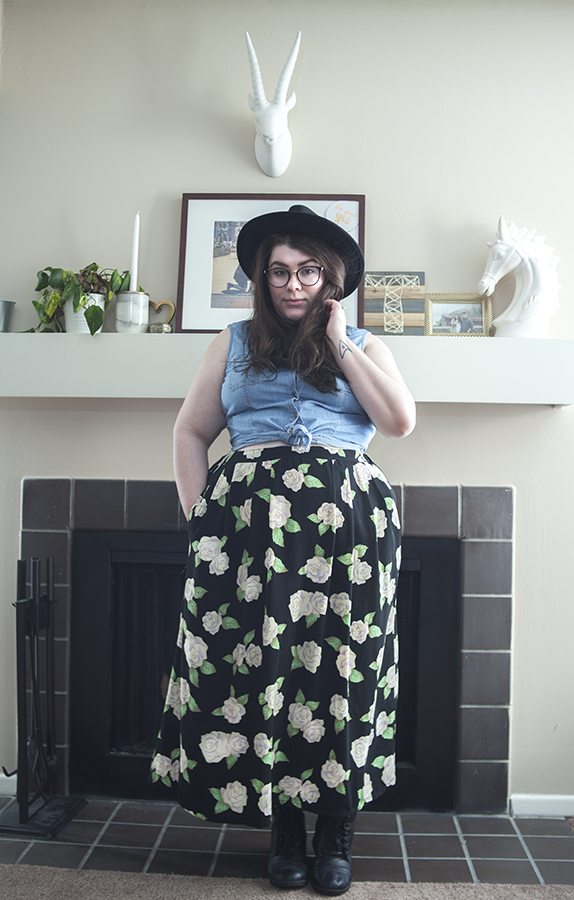 Floral Skirt restich katielikeme.com how to style