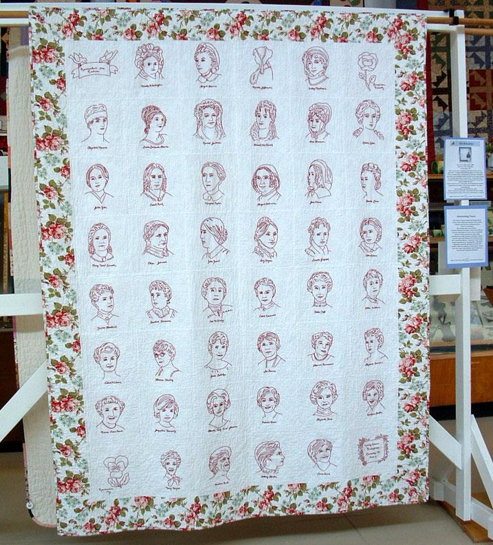 The Literate Quilter: June 2013 : first ladies quilt - Adamdwight.com