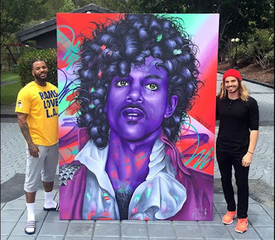the 65 thousaand dollars painting of singer Prince that The GAME BOUGHT