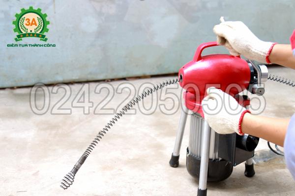 Thông tắc cống bằng máy lò xo 3A500W
