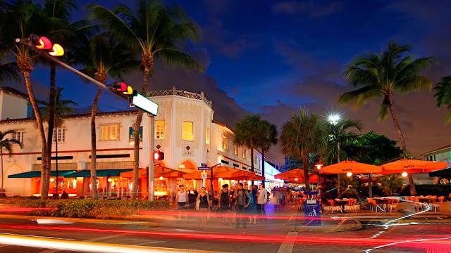 Região de South Beach em Miami
