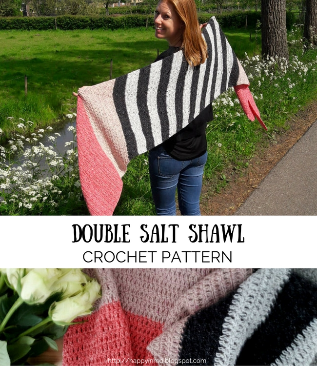 Free crochet pattern: the double salt shawl | Happy in Red