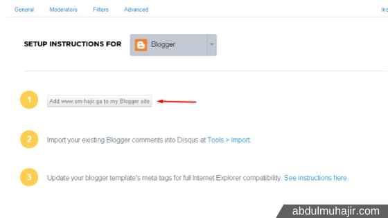tambahkan disqus di blogger