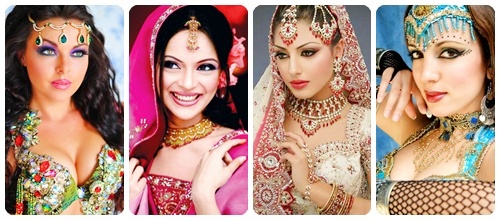 maquillaje arabe belly dance collage
