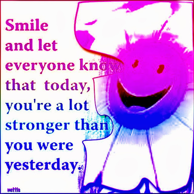 Quote Everyone Should Smile: DesignByNettis: ♥#smile #support #motivation #quote