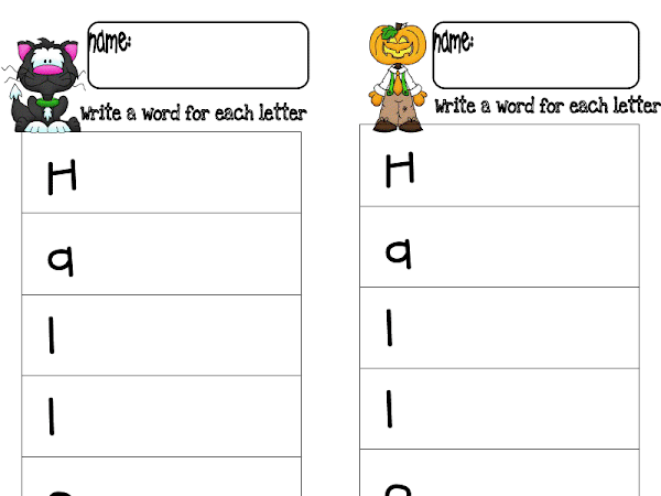 Writing and Halloween Pinterest!!