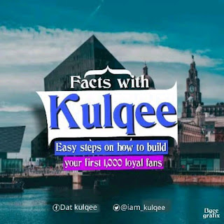 ARTICLE: FACTS WITH Kulqee - Easy Steps On How To Build Your First 1,000 loyal fans   @iam_kulqee