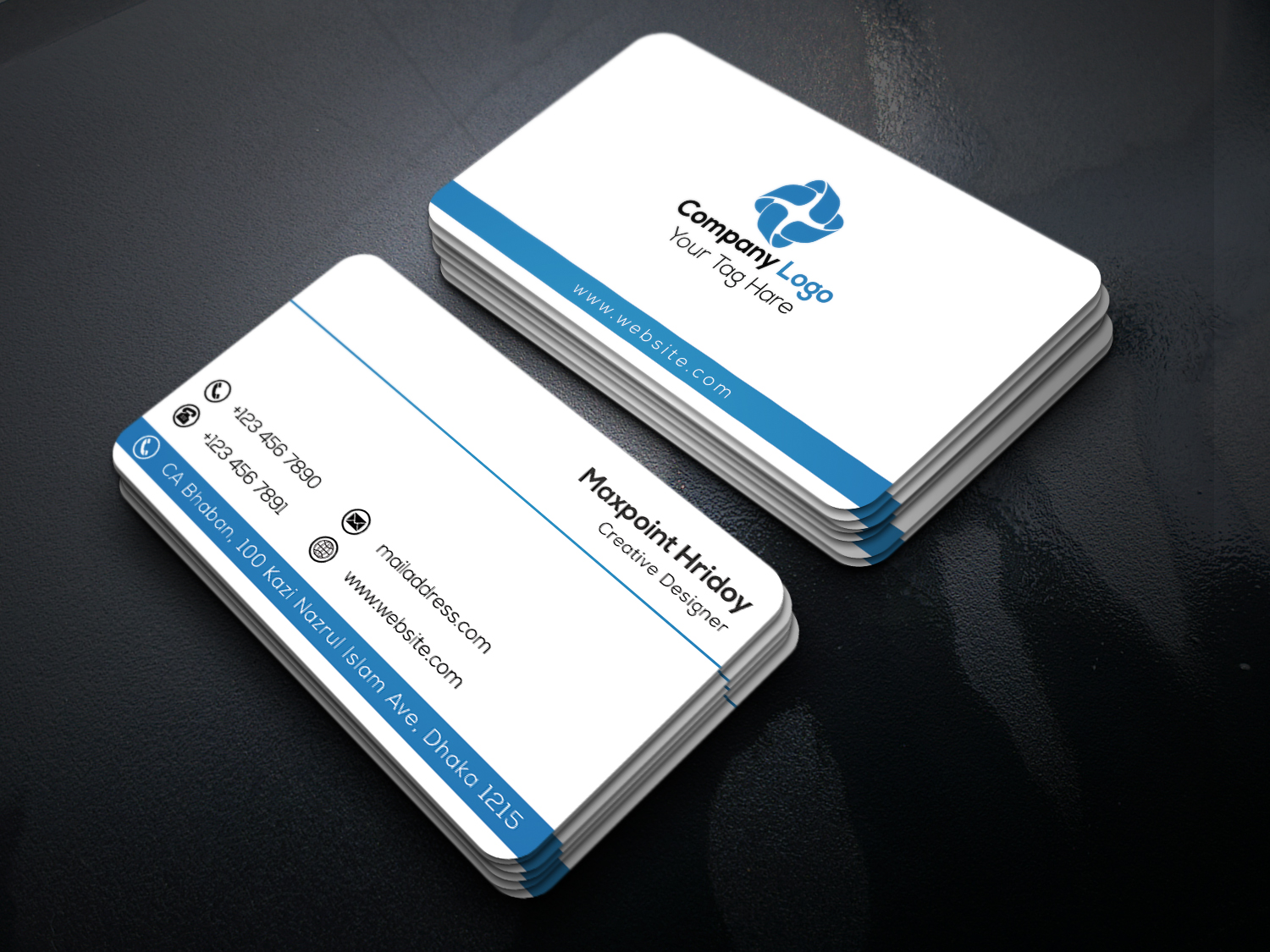 Maxpoint hridoy clean business card design bangla tutorial how to make a business card in photoshop magicingreecefo Choice Image