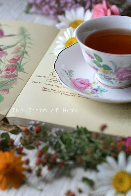 June Visual Tea/Garden Journal: The Charm of Home