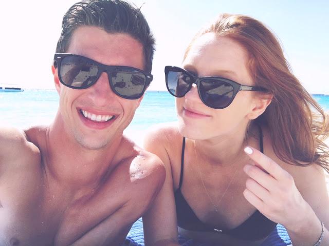 Kelcy & Nick on Grand Turk beach in Turks & Caicos