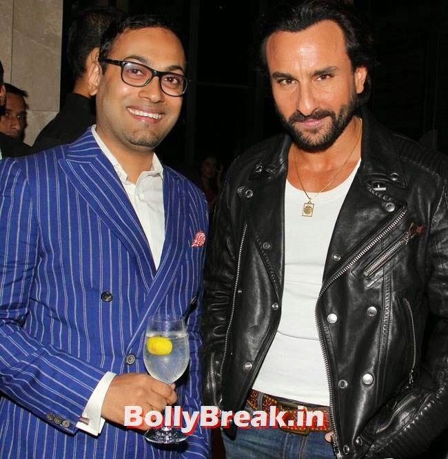 Saif Ali Khan with Che Kurrien, Evelyn, Kim, Nargis Sizzle at GQ Best Dressed Men 2014 Awards
