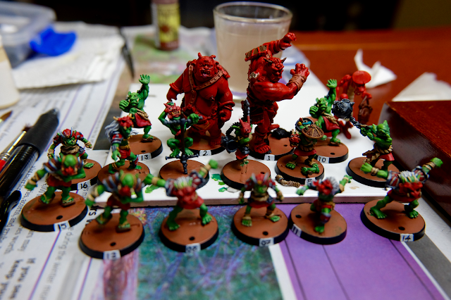 Japanese Goblins mostly painted.