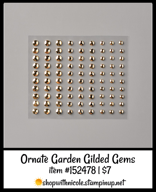 Ornate Garden Glided Gems | item 152478 | $7 | Nicole Steele The Joyful Stamper