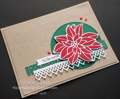 Heart's Delight Cards, MIFDC9, Detailed Poinsettia, Christmas Card, Stampin' Up!