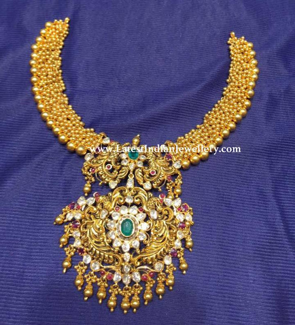 Muvvala Necklace Nakshi Pendant